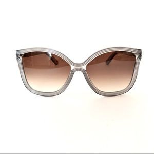 Chloe Women's Sunglasses Oversized Gray Brown Tint
